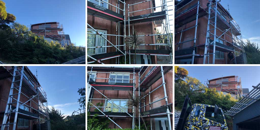 Edge protection scaffolding Plimmerton