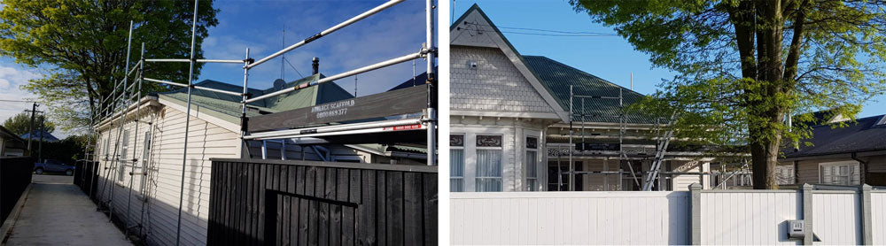 Scaffolding for Christchurch Roof Repairs