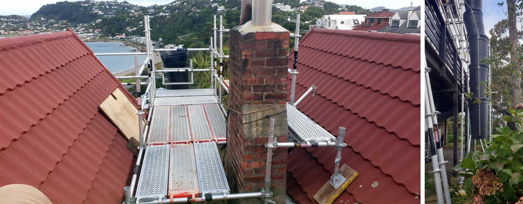 Scaffold & Rubbish Chute Scaffold Karaka Bays