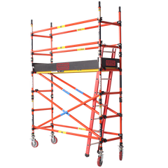 2600 Series Fibreglass 0.7m Wide x 2.4m Long Mobile Scaffold Tower