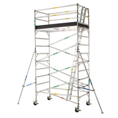Pro Series - Aluminium Mobile Scaffold Tower 1.2m Wide 2.4m Long