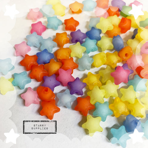 Star Beads - Frosted *12mm*