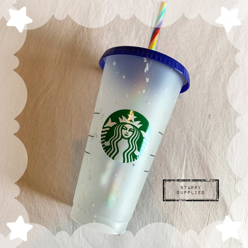 Starbucks Colour Changing Confetti Resuable Cup