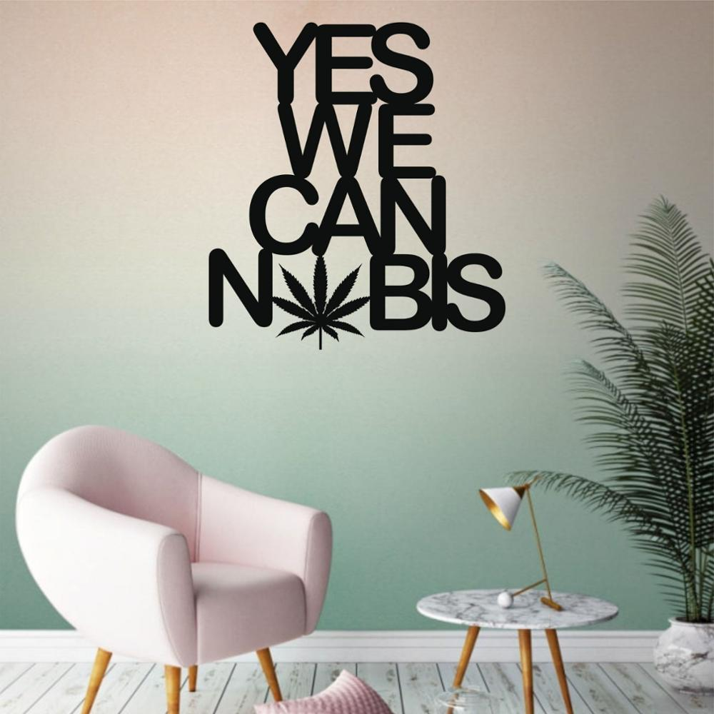 Yes We Cannabis Metal Wall Art