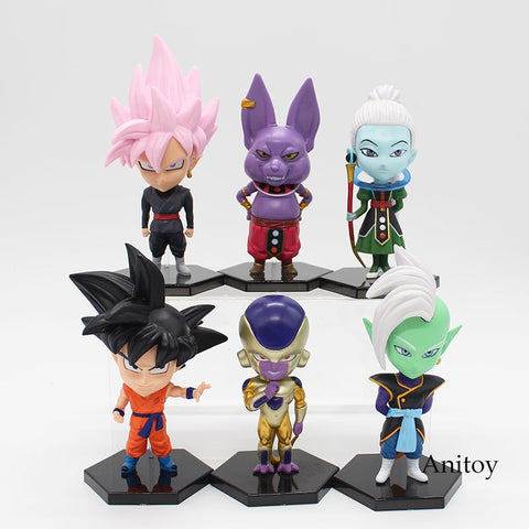 KIT Dragon Ball Super 6 Personagens