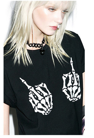 Camiseta Skull (Middle Finger)