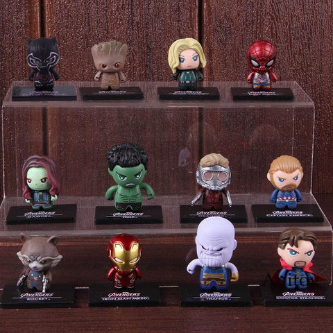 KIT Mini Vingadores 12 Personagens