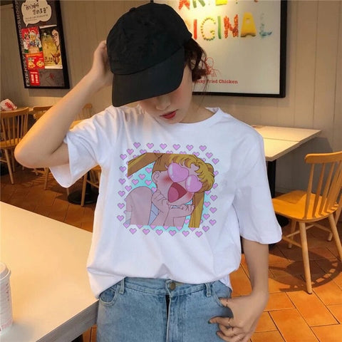 Camiseta Moda Kawaii