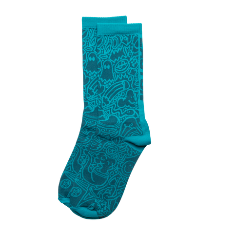 Easton Cycling X Cento Scribble Sock