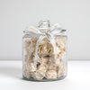 Nougat Filled Glass Jar with Special Eid Ribbon (1kg, +/-50 Pieces) - 1701 Nougat & Luxury Gifting (Pty) Ltd
