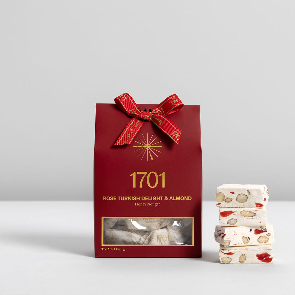 Turkish Delight & Almond Nougat Box (160g) - 1701 Nougat & Luxury Gifting (Pty) Ltd