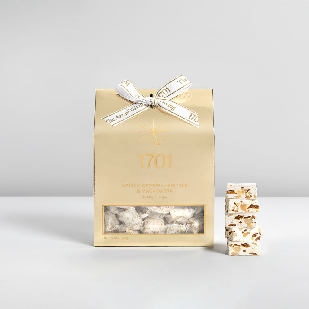 Salted Caramel Brittle & Macadamia Deluxe Nougat Box (640g) - 1701 Luxury Gifting and Honey Nougat - Order Online Johannesburg South Africa
