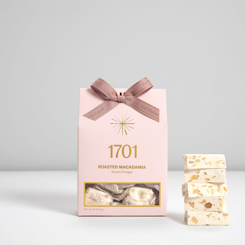 Roasted Macadamia Nougat Box with Special Eid Ribbon (160g) - 1701 Nougat & Luxury Gifting (Pty) Ltd