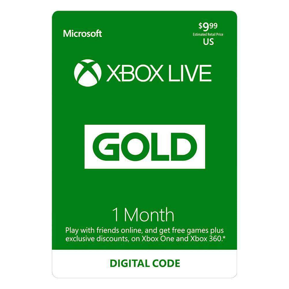Xbox Live 1 Month Subscription Code [Digital Delivery]