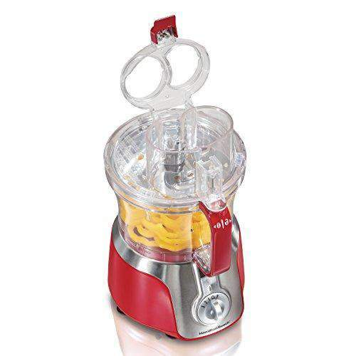 Hamilton Beach 525W 3 Speed Big Mouth Deluxe 14 Cup Food Processor, Red | 70576