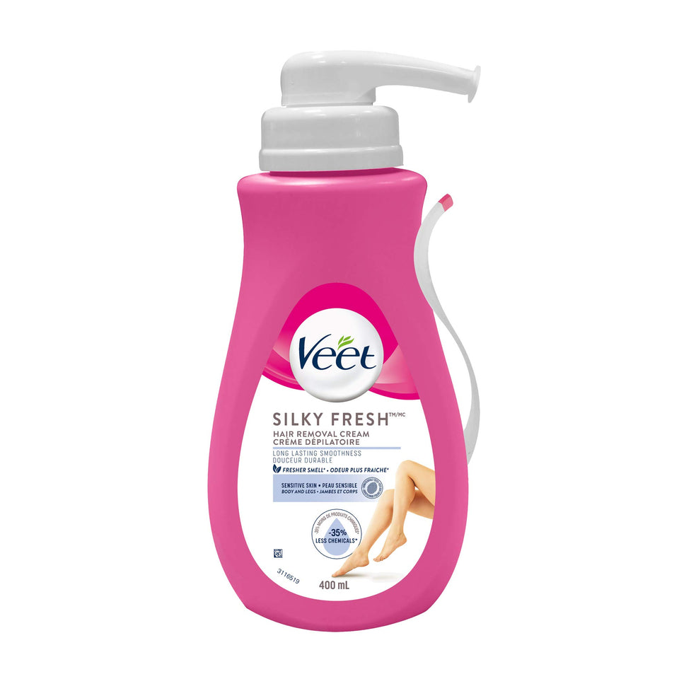 Veet Sensitive Hair Remover Gel Cream, Pink, 13.5 Fl Oz