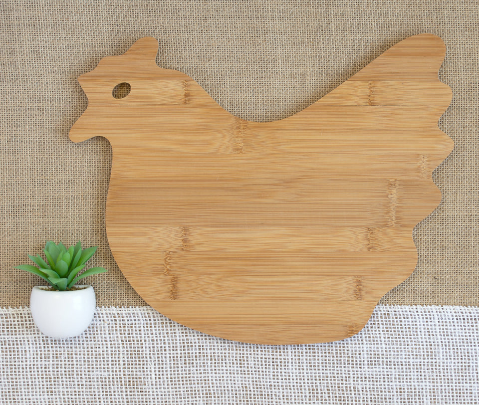 Family Name with Branches Animal Shaped Cutting Board