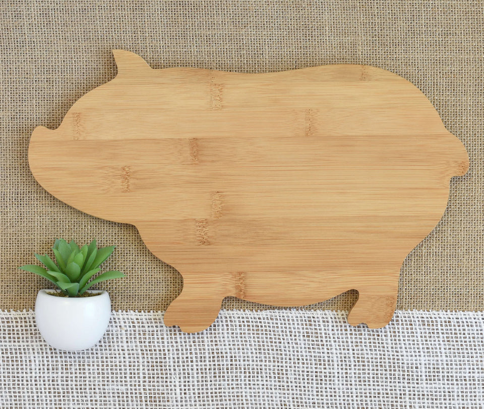 Home with Heart and Family Name Animal Shaped Cutting Board