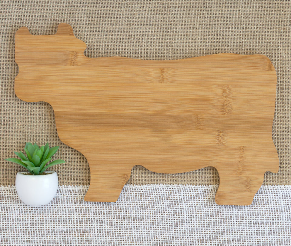 First and Last Family Name with Est. Year Animal Shaped Cutting Board