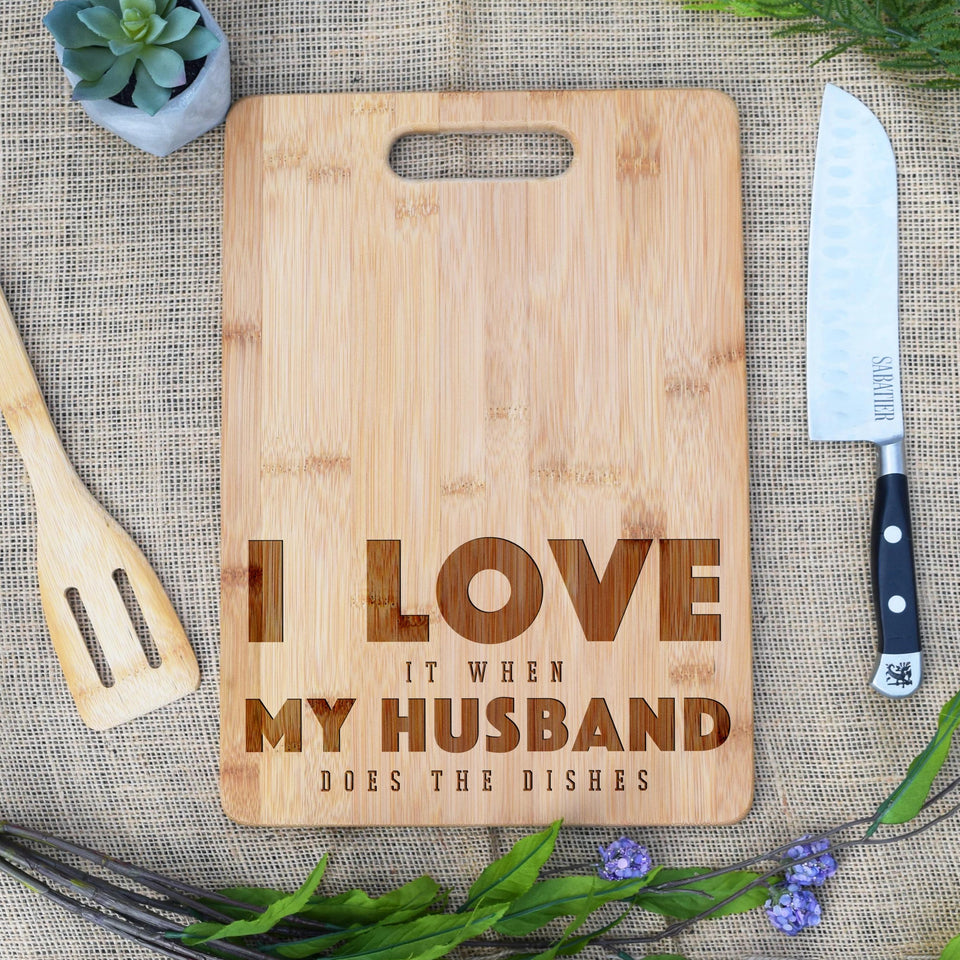 I Love My Husband, Does the Dishes, Rectangular Board