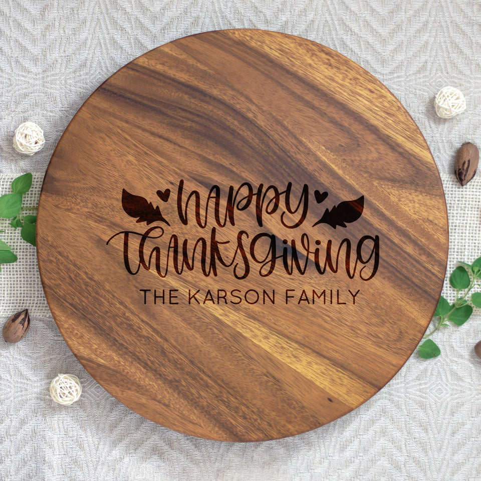 Happy Thanksgiving Lazy Susan