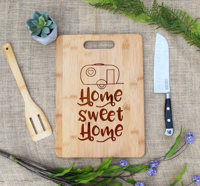 Home Sweet Home Camper Rectangular Board