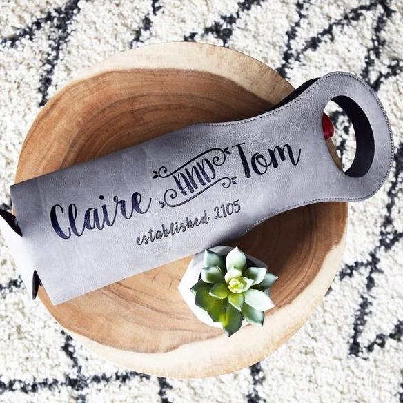 First Names, Wedding Date Wine Bag