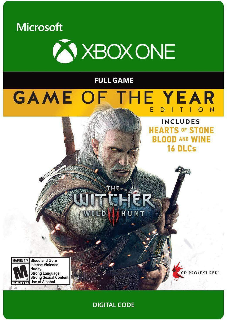 The Witcher 3: Wild Hunt - Game of The Year Xbox One [Digital Code]