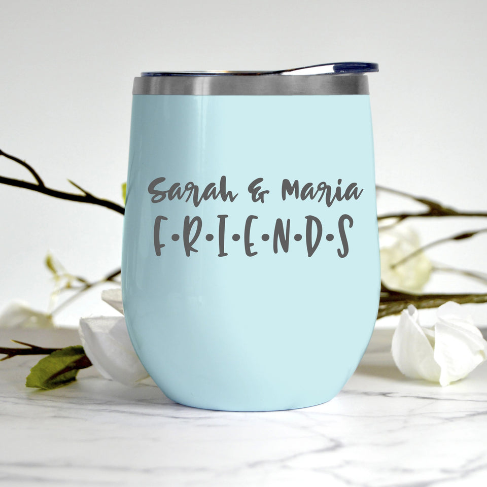 Friends Custom Name Tumbler