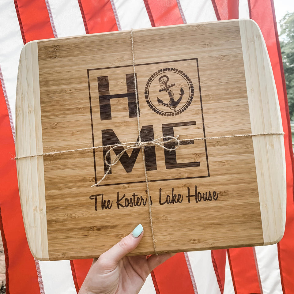 Home Anchor Two Tone Cutting Board
