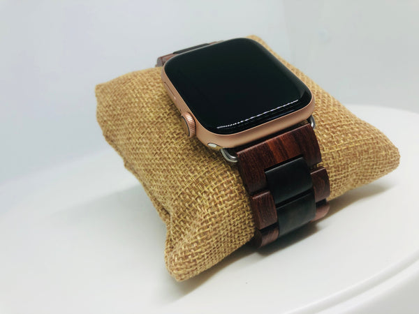 Black & Red Sandalwood Apple Watch Band