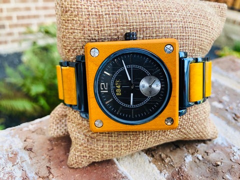 W20 LIMITLESS-YELLOW & BLUE SQUARE WATCHES