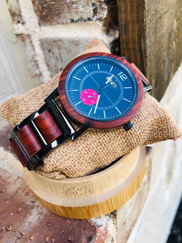 W13 LIMITLESS-ROSEWOOD CIRCULAR MEN WATCHES