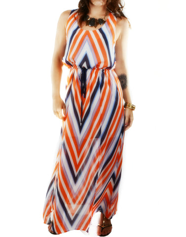"""Evelyn"" Maxi Chevron Dress"