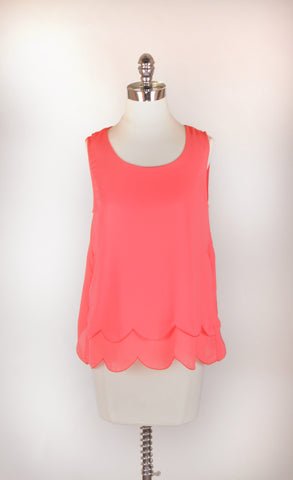 """Felicity"" Open Scallop Top"