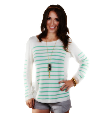 """Laine""Long Sleeve Sweater Stripe"