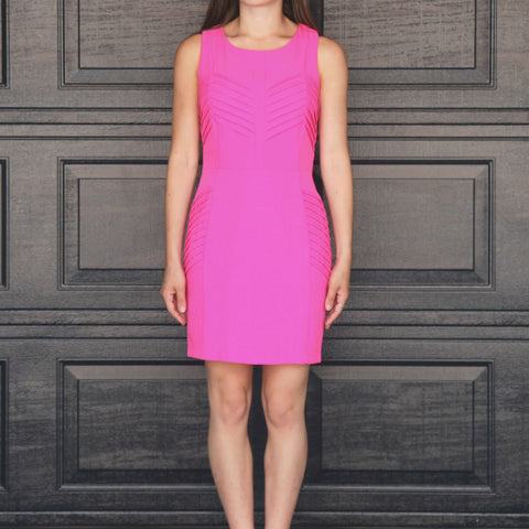 """Shannon"" Textured Fitted Dress"