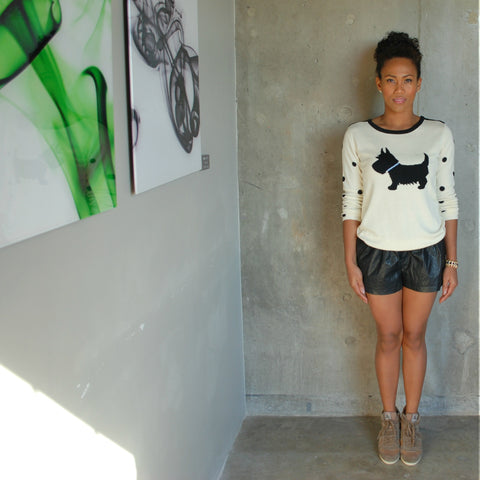 """Shelly"" Scottie Sweater"