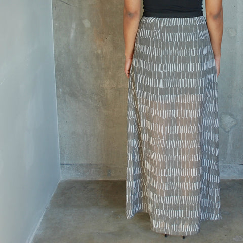 """Zelda"" Tribal Print Maxi Skirt"