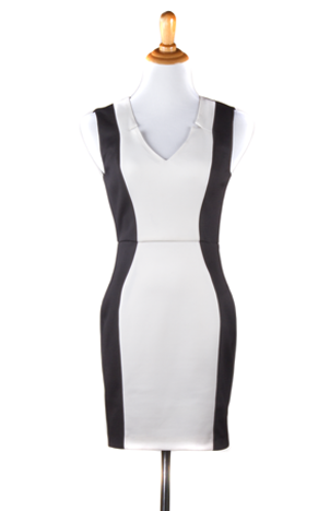 """Ashley"" V-Neck Colorblock Dress"