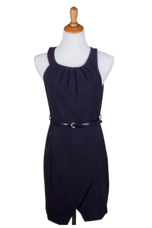 """Autumn"" Round Neck Dress with Belt"