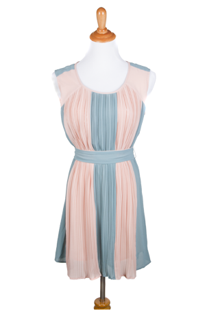 """Emmeline"" Pleated Dress with Sash"