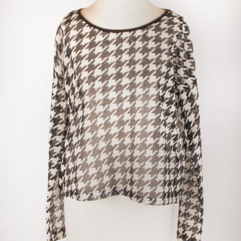 """Tessa"" Houndstooth Top"