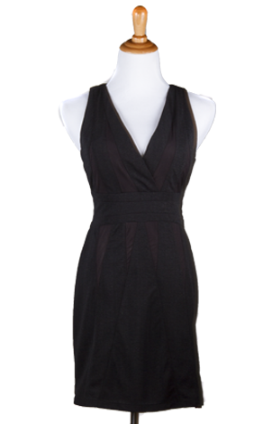 """Jan"" Halter, V-Neck, Low Back Bodycon Dress"