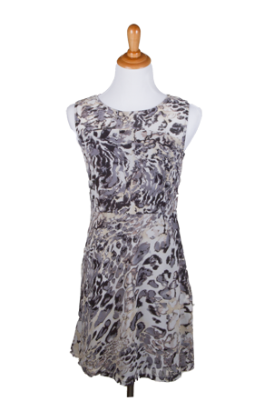 """Misha"" Animal Print Sleeveless Mid Thigh Dress"