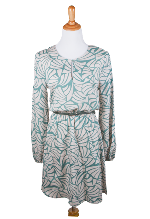 """Sydney"" Printed Dress with Belt"