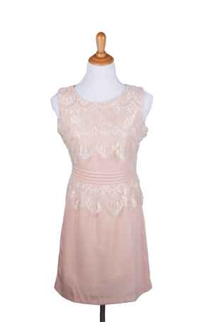 """Tracy"" Scalloped Lace Dress"