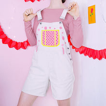 Load image into Gallery viewer, Hand Painted CUTIE Overalls