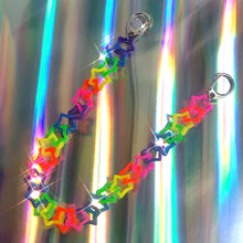 Load image into Gallery viewer, Rainbow Star Wallet Chain & Necklace