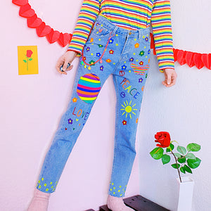 PipPi LoNgStOcKiNg Flower Power Pants
